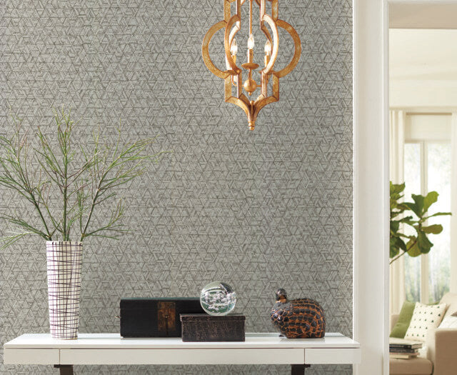 Amulet Wallpaper in Oyster from the Moderne Collection by Stacy Garcia for York Wallcoverings