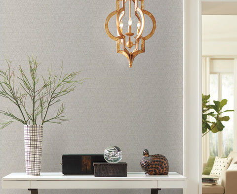 Amulet Wallpaper in Porcelain from the Moderne Collection by Stacy Garcia for York Wallcoverings