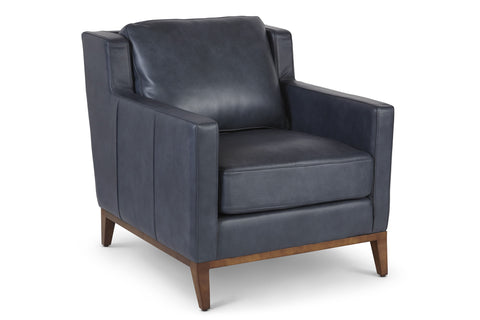 Anders Leather Chair in Denim
