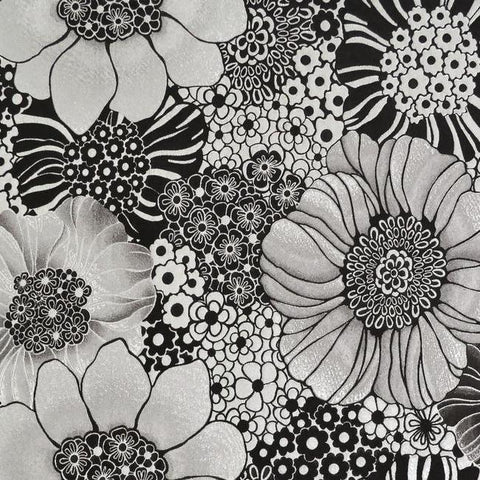 Sample Anemones Wallpaper in Black and Silver by Missoni Home for York Wallcoverings