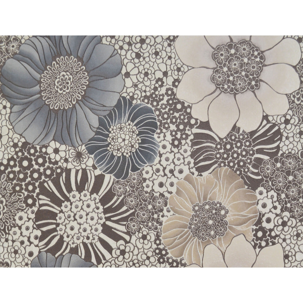 Anemones Wallpaper In Cream And Taupe By Missoni Home For
