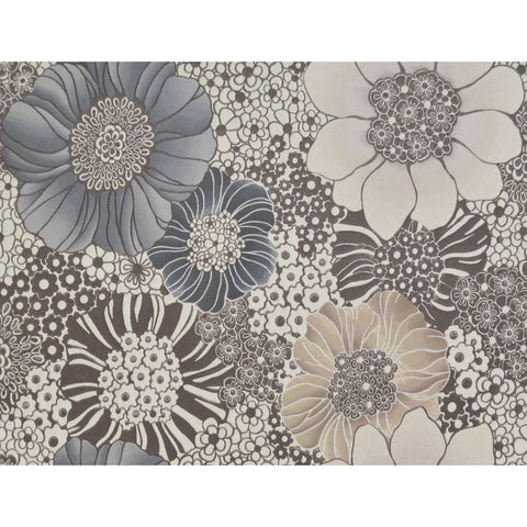 Anemones Wallpaper in Cream and Taupe by Missoni Home for York Wallcoverings