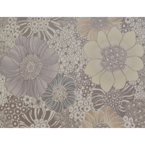 Sample Anemones Wallpaper in Cream and Warm Grey by Missoni Home for York Wallcoverings