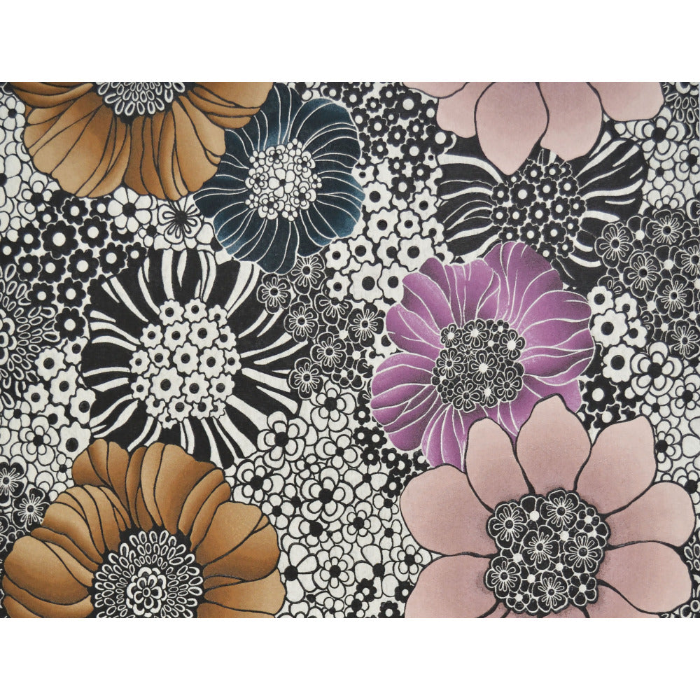 Anemones Wallpaper in Pearl and Black by Missoni Home for York Wallcoverings
