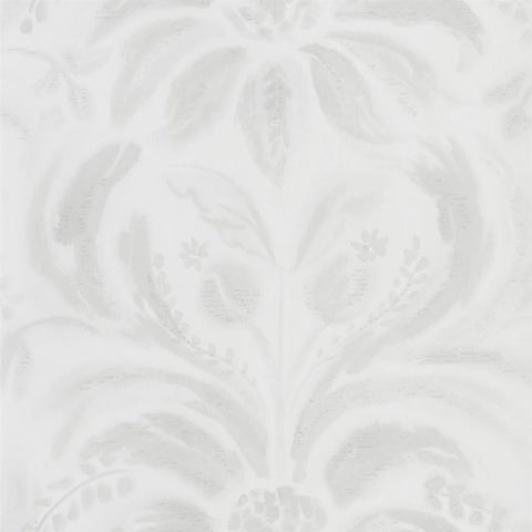 Angelique Damask Wallpaper in Chalk from the Tulipa Stellata Collection by Designers Guild