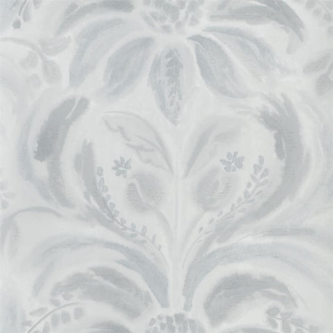 Angelique Damask Wallpaper in Graphite from the Tulipa Stellata Collection by Designers Guild