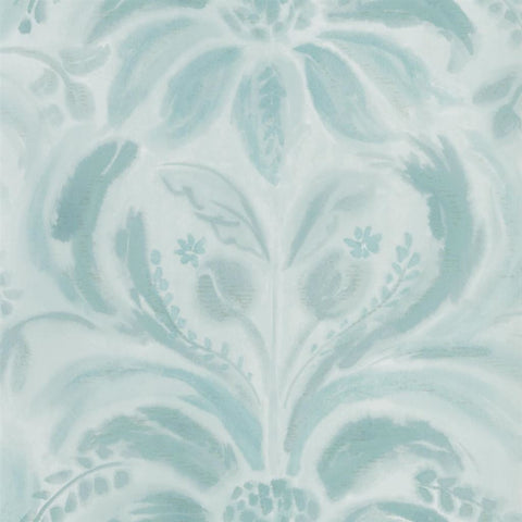 Angelique Damask Wallpaper in Jade from the Tulipa Stellata Collection by Designers Guild