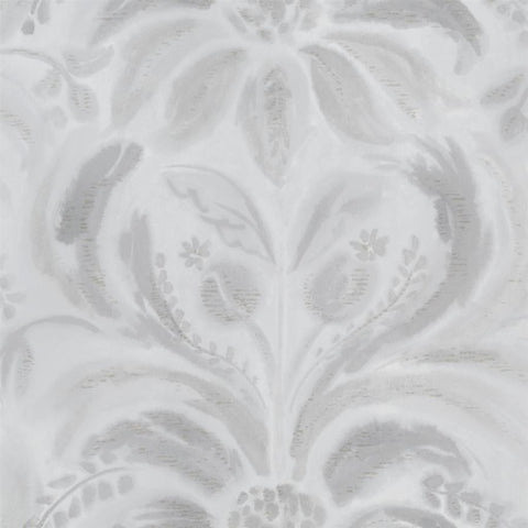 Angelique Damask Wallpaper in Steel from the Tulipa Stellata Collection by Designers Guild