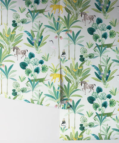 Animal Kingdom Wallpaper (Two Roll Set) in Cream by Bethany Linz for Milton & King