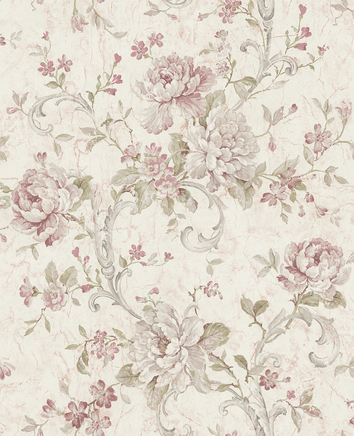 Antiqued Rose Wallpaper In Dusty Mauve From The Vintage Home 2 Collect Burke Decor