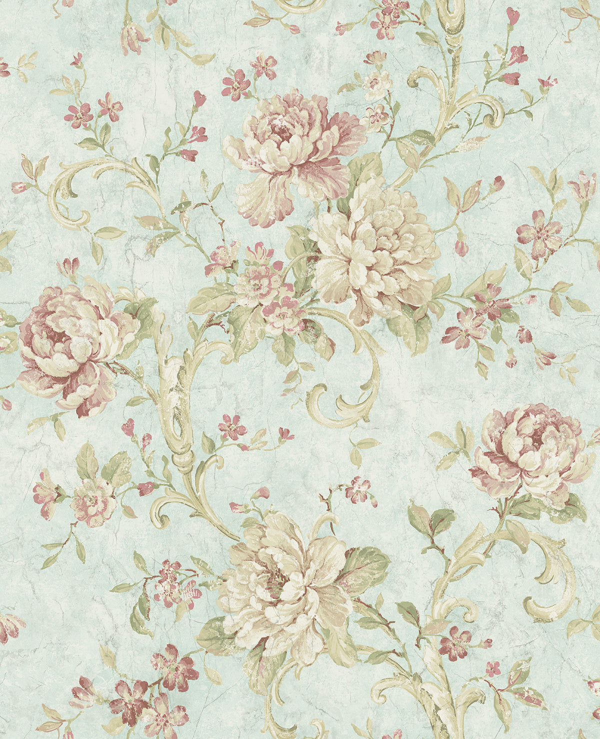 Antiqued Rose Wallpaper In Morning Rose From The Vintage Home 2 Collec Burke Decor