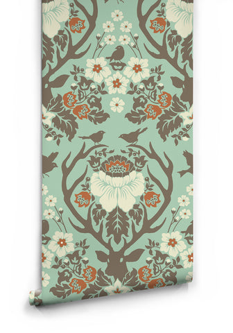 Antler Damask Wallpaper by Milton & King