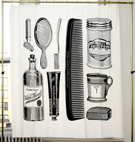 Apothecary Shower Curtain design by Izola
