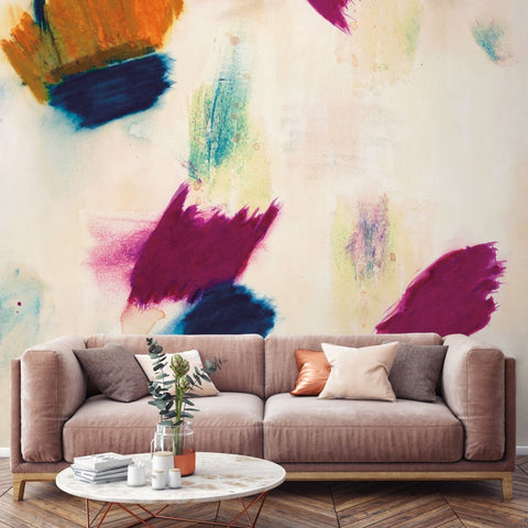 Arabella Self Adhesive Wall Mural in Marigold Rising by Zoe Bios Creative for Tempaper