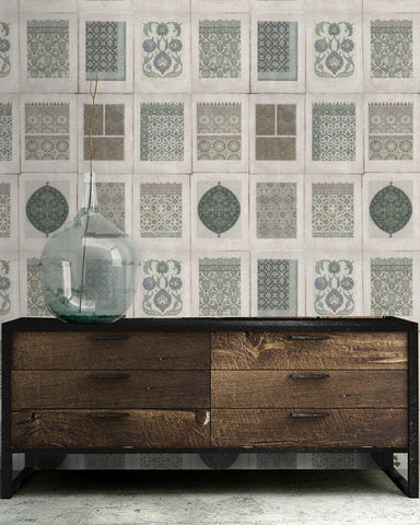 Arabesque Wallpaper in Neutral from the Eclectic Collection by Mind the Gap