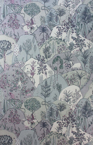 Aravali Wallpaper in Lilac by Matthew Williamson for Osborne & Little