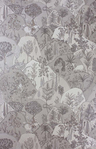 Aravali Wallpaper in Silver by Matthew Williamson for Osborne & Little