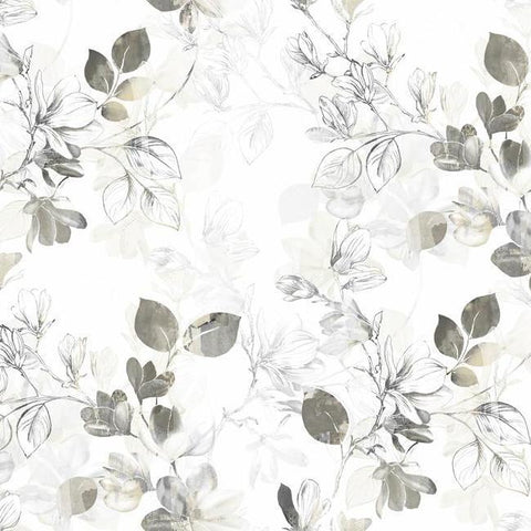 Arbor Vine Wallpaper in Tan from the Impressionist Collection by York Wallcoverings