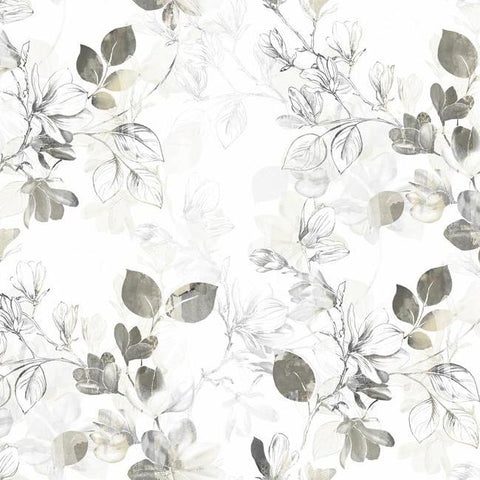 Sample Arbor Vine Wallpaper in Tan from the Impressionist Collection by York Wallcoverings
