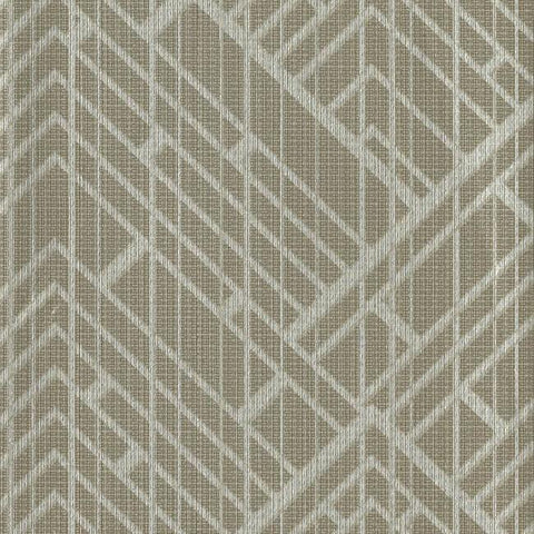Sample Architect Wallpaper in Brown from the Moderne Collection by Stacy Garcia for York Wallcoverings