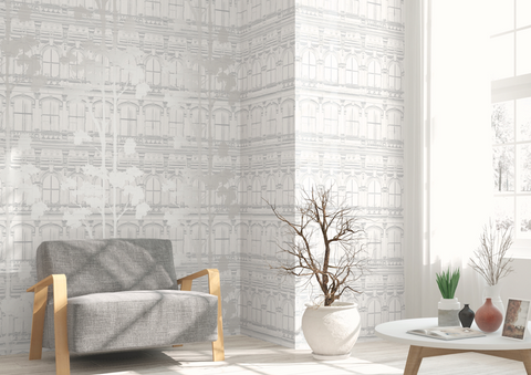 Architecture with Tree Shadow Wallpaper from the Transition Collection by Mayflower