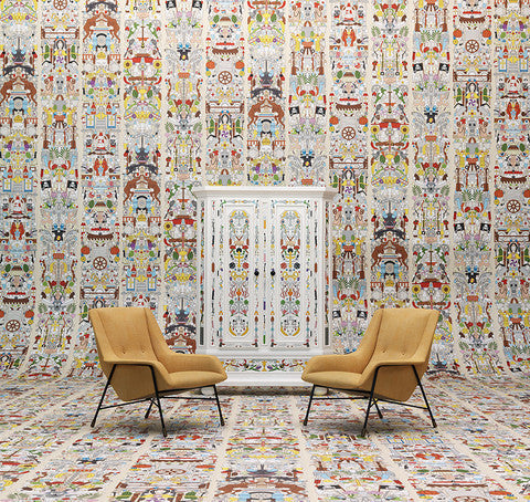 Archives Collection Alt Deutsch Wallpaper design by Studio Job for NLXL Wallpaper