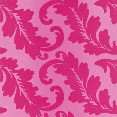 Ardassa Wallpaper in Magenta from the Alexandria Collection by Designer's Guild
