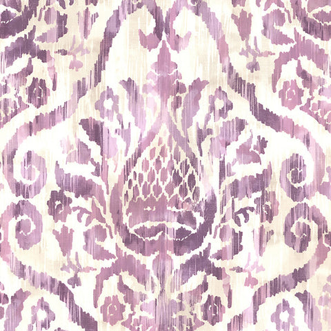 Argos Lilac Damask Wallpaper From The Savor Collection By Brewster Home Fashions