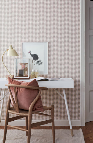 Arne Blush Geometric Wallpaper from the Scandinavian Designers II Collection by Brewster