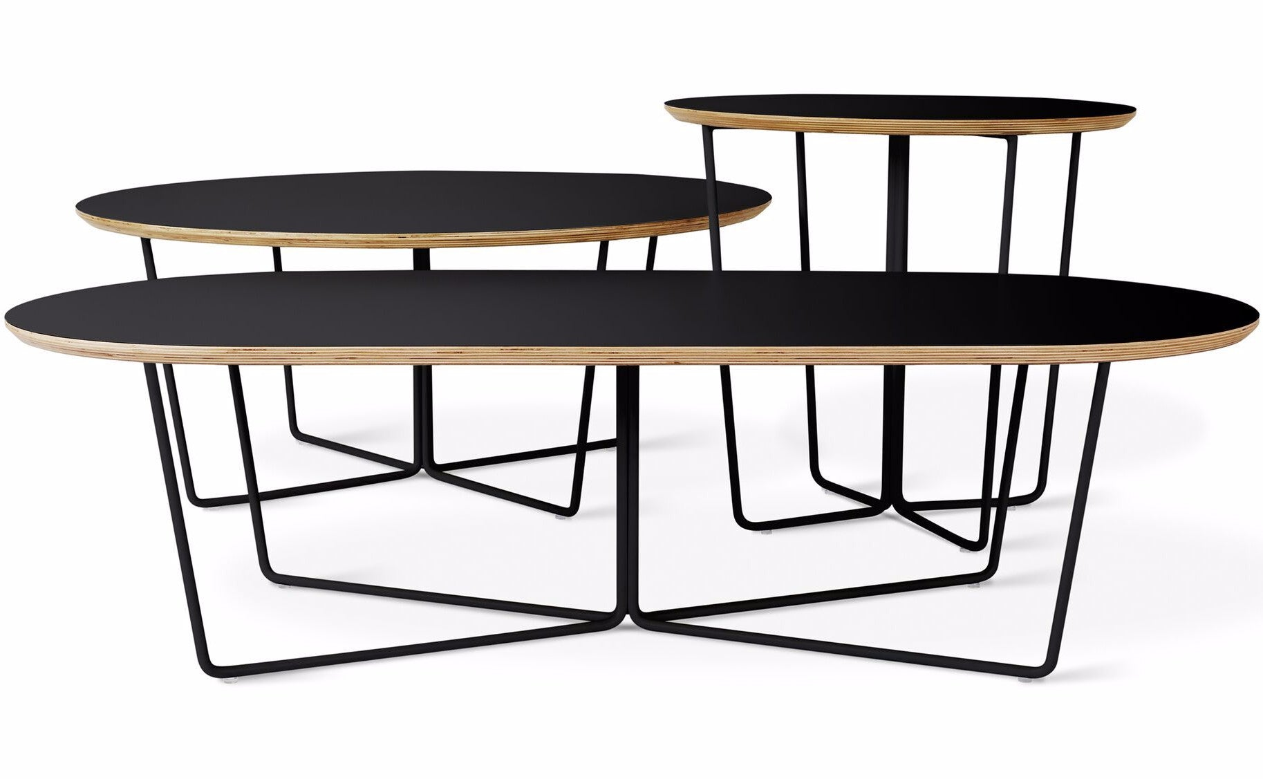 Array oval coffee table in various colors design by gus for Table design oval