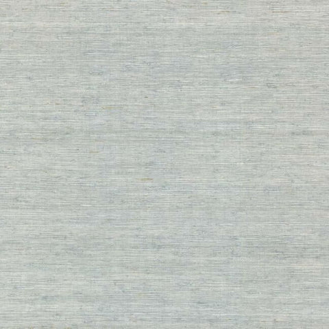 Sample Arrowroot Grasscloth Wallpaper in Sky Blue from the Water's Edge Collection by York Wallcoverings