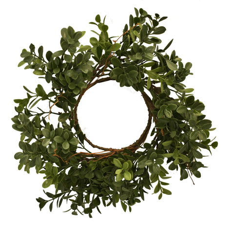 "Artificial Boxwood 11"" Ring"