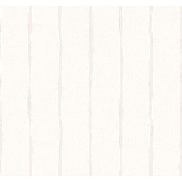 Sample Aruba Stripe Wallpaper in Ivory and Beige from the Tortuga Collection by Seabrook Wallcoverings