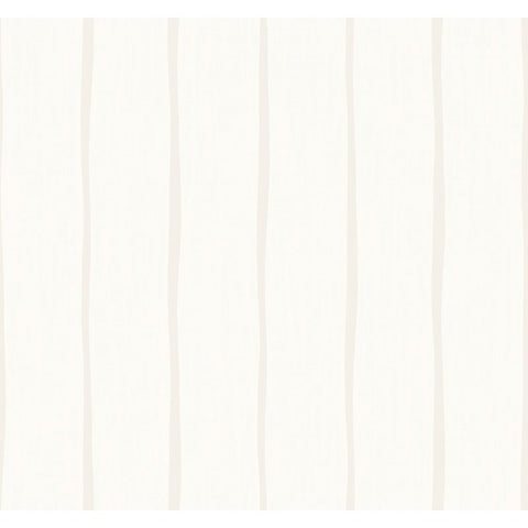 Aruba Stripe Wallpaper in Ivory and Beige from the Tortuga Collection by Seabrook Wallcoverings