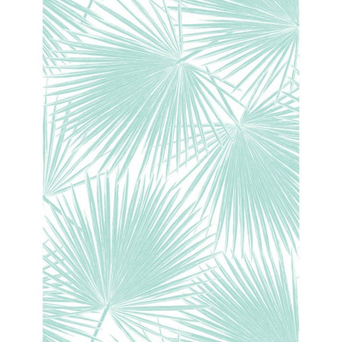 Aruba Wallpaper in Aqua from the Tortuga Collection by Seabrook Wallcoverings