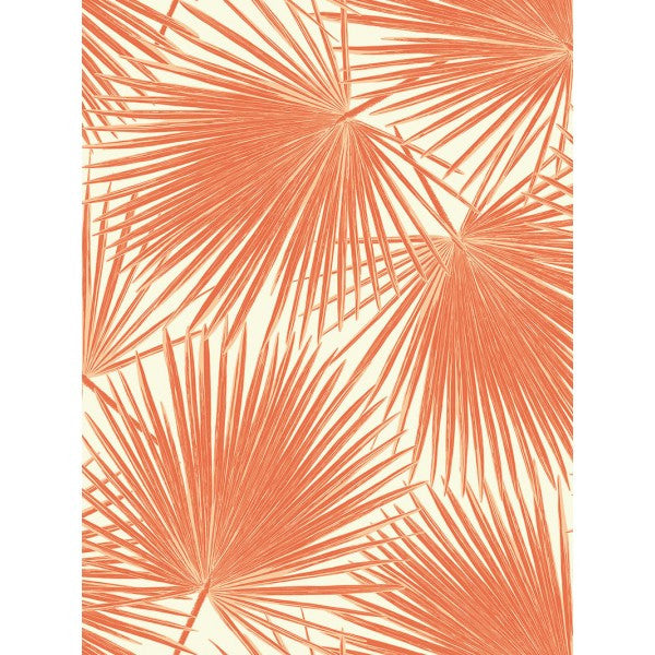 Aruba Wallpaper in Deep Orange from the Tortuga Collection by Seabrook Wallcoverings
