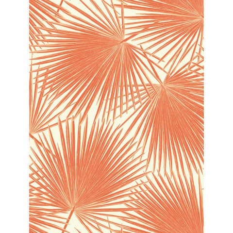 Sample Aruba Wallpaper in Deep Orange from the Tortuga Collection by Seabrook Wallcoverings