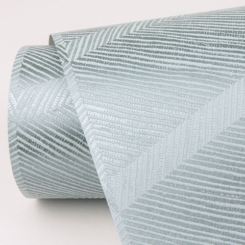 Aspen Chevron Wallpaper in Aqua from the Scott Living Collection by Brewster Home Fashions