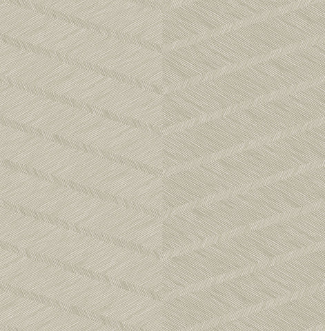 Aspen Chevron Wallpaper in Champagne from the Scott Living Collection by Brewster Home Fashions