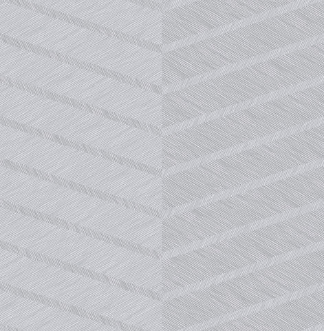 Aspen Chevron Wallpaper in Grey from the Scott Living Collection by Brewster Home Fashions