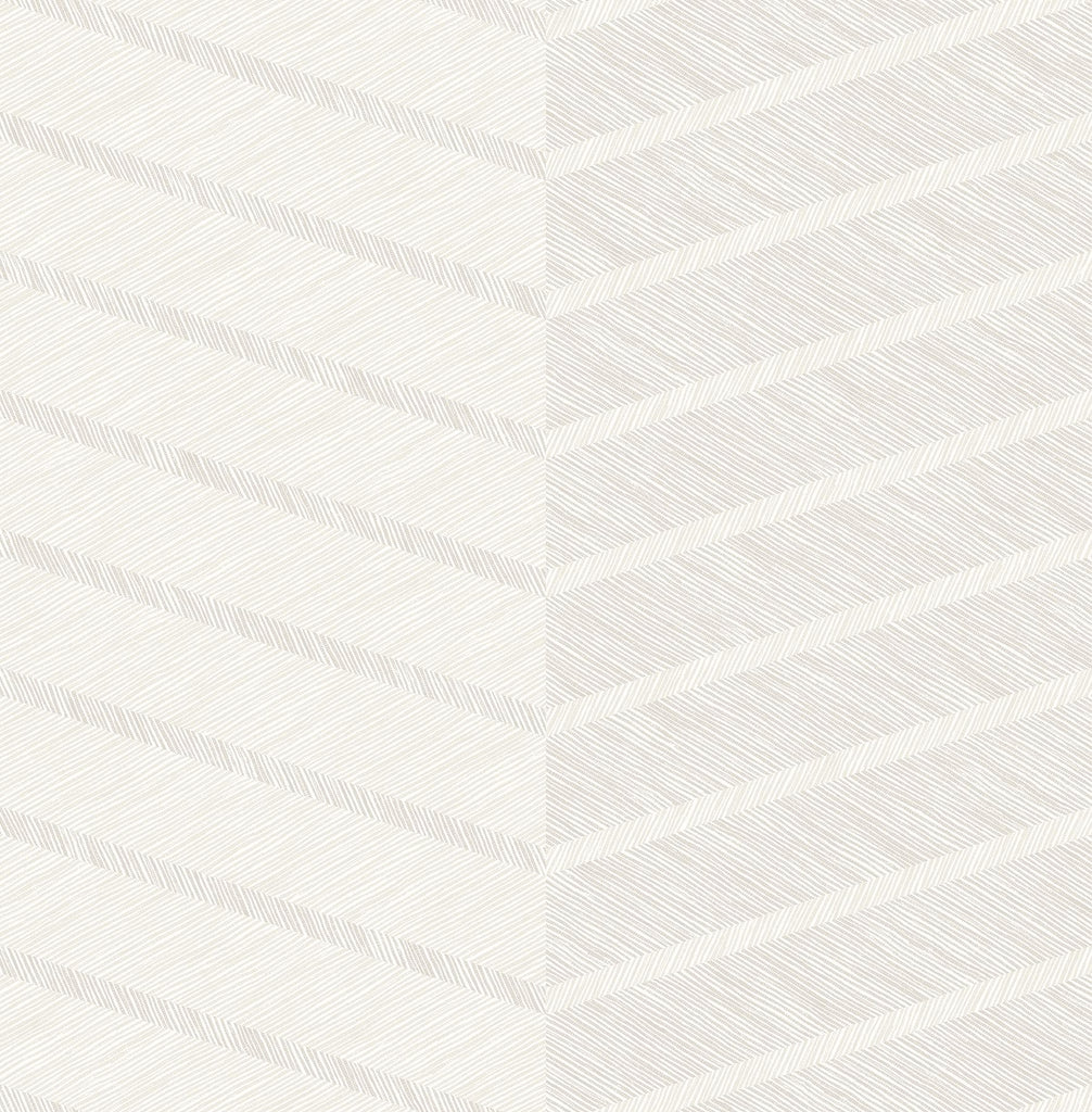 Sample Aspen Chevron Wallpaper in White from the Scott Living Collection by Brewster Home Fashions