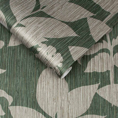 Aspen Wallpaper in Green from the Exclusives Collection by Graham & Brown