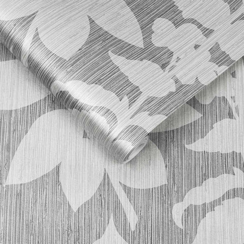 Aspen Wallpaper in Grey from the Exclusives Collection by Graham & Brown
