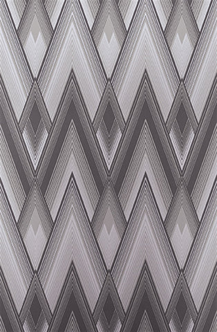 Astoria Wallpaper in Graphite and Silver from the Fantasque Collection by Osborne & Little