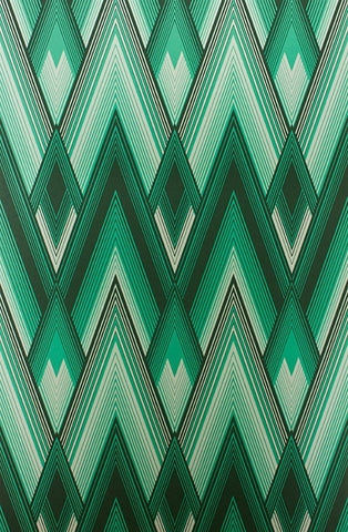 Astoria Wallpaper in Malachite and Teal from the Fantasque Collection by Osborne & Little
