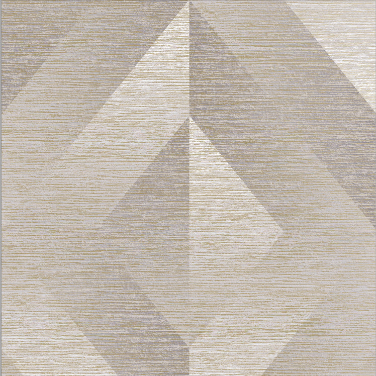 Sample Atelier Geo Wallpaper in Stone from the Exclusives Collection by Graham & Brown