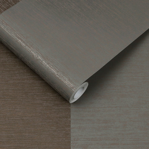 Atelier Stripe Wallpaper in Bronze from the Exclusives Collection by Graham & Brown
