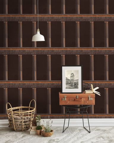 Athena Wallpaper in Copper from the Histoire de L'Architecture Collection by Mind the Gap