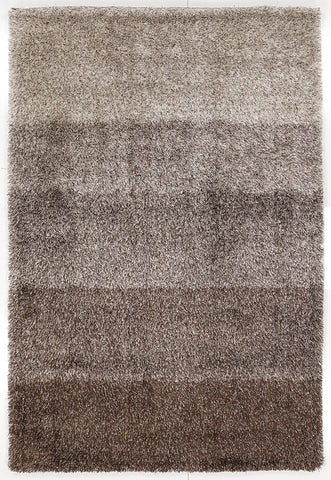Atlantis Collection Hand-Woven Shag Area Rug in Brown design by Chandra