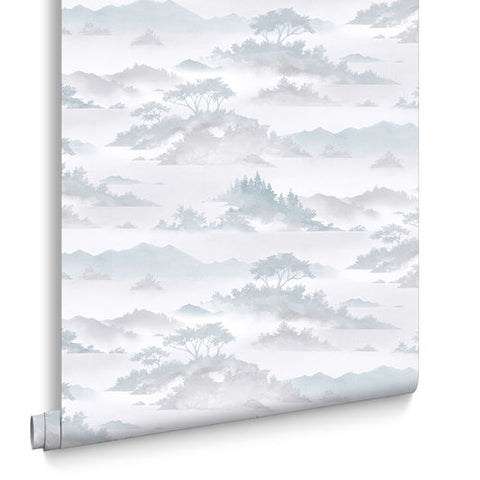 Atmosphere Wallpaper in Aqua from the Exclusives Collection by Graham & Brown